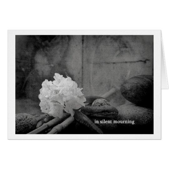 in silent mourning karte