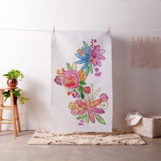 In-situgewebe mit Watercolor-Blumen Stoff
