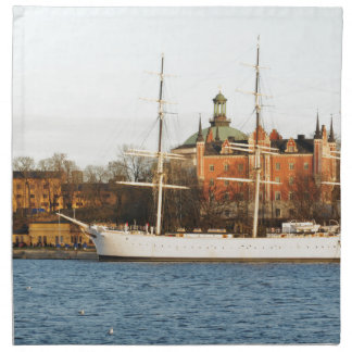 In Stockholm segeln, Schweden Stoffserviette