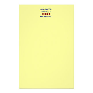In Wirklichkeit kenne ICH es aller! Briefpapier