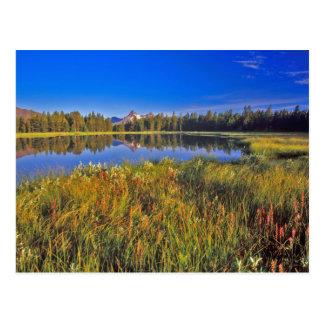 Index-Spitze reflektiert sich in Mud See auf Postkarte
