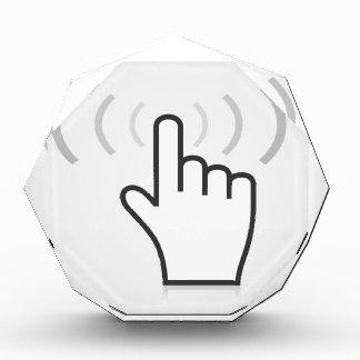 Indexieren Sie eine Hand Acryl Auszeichnung