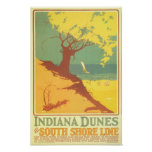 Indiana-Dünen-Strand Plakatdrucke