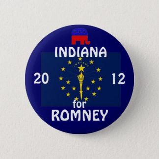 Indiana für Romney 2012 Runder Button 5,1 Cm