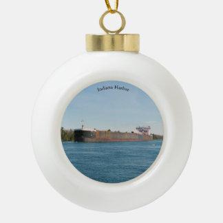 Indiana-Hafenball oder Schneeflockeverzierung Keramik Kugel-Ornament