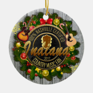 Indiana-Land-Musikfan-Weihnachtsverzierung Keramik Ornament