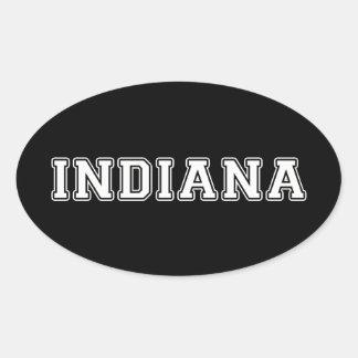 Indiana Ovaler Aufkleber