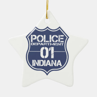 Indiana-Polizeidienststelle-Schild 01 Keramik Ornament