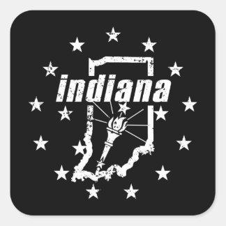 Indiana Quadratischer Aufkleber