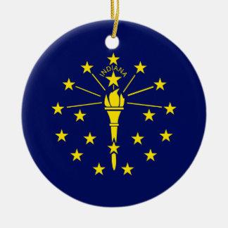 Indiana-Staats-Flagge Keramik Ornament