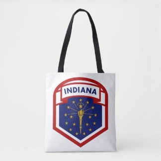 Indiana-Staats-Flaggen-Schild-Art Tasche