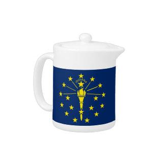 Indiana-Staats-Flaggen-Teekanne