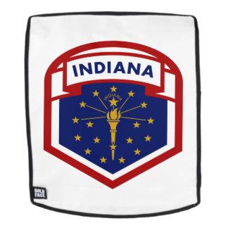 Indiana-Staats-Flaggen-Wappen Art Rucksack