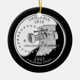 Indiana-Staats-Viertel Keramik Ornament