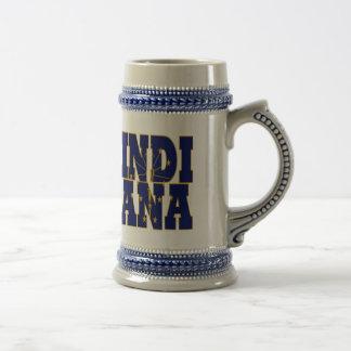Indiana-Staatsflaggentext Bierglas