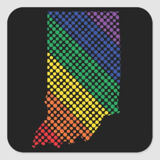 Indiana-Staatsstolz Quadratischer Aufkleber