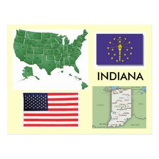 Indiana, USA Postkarte