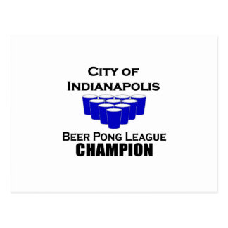 Indianapolis-Bier Pong Meister Postkarte