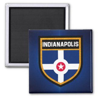 Indianapolis-Flagge Quadratischer Magnet