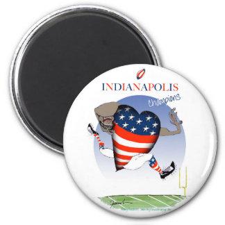 Indianapolis-Fußballchampions, tony fernandes Runder Magnet 5,7 Cm