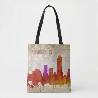 Indianapolis, in den | Aquarell-Stadt-Skylinen Tasche