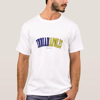 Indianapolis in den Indiana-Staatsflaggenfarben T-Shirt