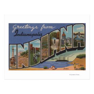 Indianapolis, Indiana (Stahlwerke/Sanddünen) Postkarte