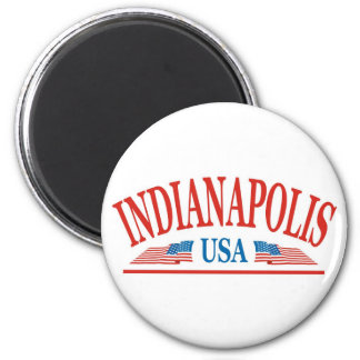 Indianapolis Indiana USA Runder Magnet 5,7 Cm