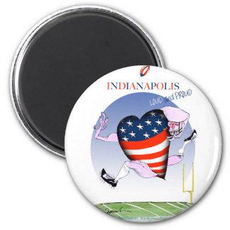 Indianapolis laute und stolz, tony fernandes runder magnet 5,7 cm