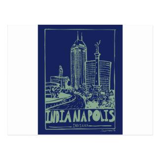 Indianapolis-Postkarte Postkarte