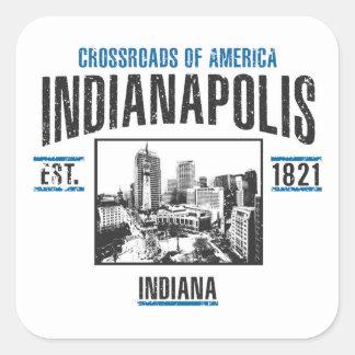 Indianapolis Quadratischer Aufkleber