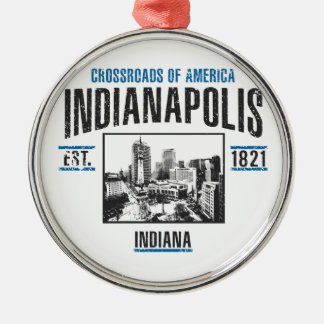 Indianapolis Silbernes Ornament