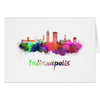 Indianapolis skyline im Watercolor Karte