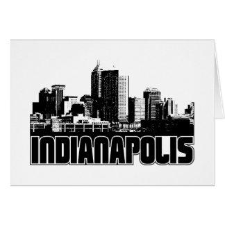 Indianapolis-Skyline Karte