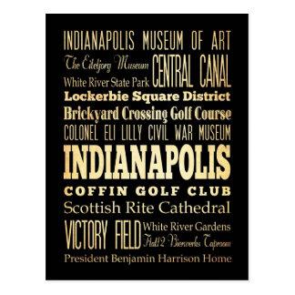 Indianapolis-Stadt der Postkarte