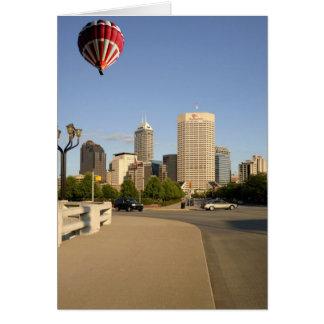 Indianapolis-Stadt-Skyline Karte