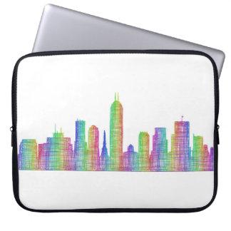 Indianapolis-Stadt-Skyline Laptopschutzhülle