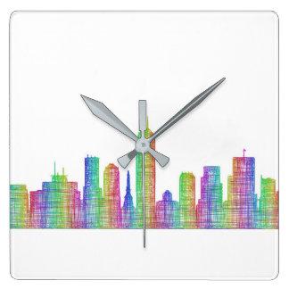 Indianapolis-Stadt-Skyline Quadratische Wanduhr