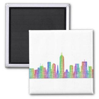 Indianapolis-Stadt-Skyline Quadratischer Magnet
