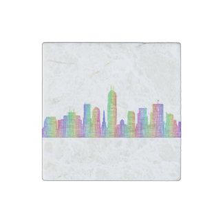 Indianapolis-Stadt-Skyline Stein-Magnet