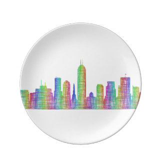 Indianapolis-Stadt-Skyline Teller