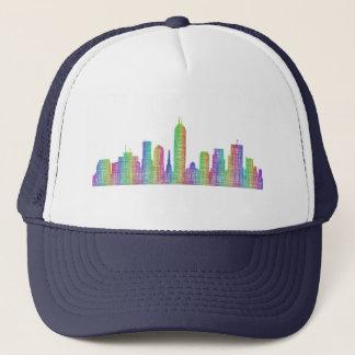 Indianapolis-Stadt-Skyline Truckerkappe