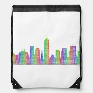 Indianapolis-Stadt-Skyline Turnbeutel