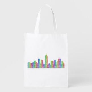 Indianapolis-Stadt-Skyline Wiederverwendbare Einkaufstasche