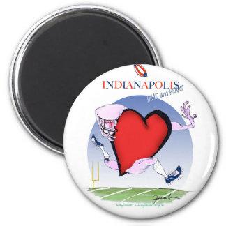 Indianapolishauptherz, tony fernandes runder magnet 5,7 cm