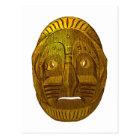 Indianer Native American Maske mask Postkarte