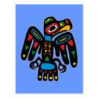 Indianer Native American Rabe raven Postkarte