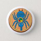 Indianer Native American Spinne spider Runder Button 5,1 Cm