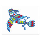 Indianer Rabe Native american Raven Postkarte
