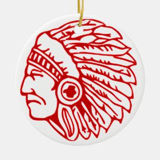 Indianer-roter Inder Keramik Ornament